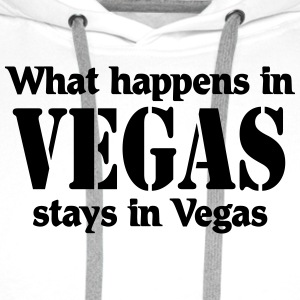 What happens in Vegas, stays in Vegas Shirts med lange ærmer - Herre Premium hættetrøje