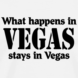 What happens in Vegas, stays in Vegas Shirts met lange mouwen - Mannen Premium T-shirt