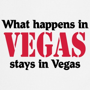 What happens in Vegas, stays in Vegas T-shirts - Keukenschort