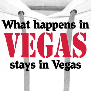 What happens in Vegas, stays in Vegas Koszulki - Bluza męska Premium z kapturem