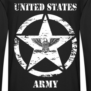 us vintage army star 03 Sweat-shirts - T-shirt manches longues Premium Homme