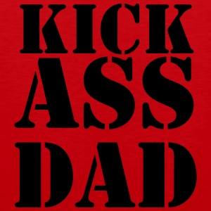 Kick ass Dad T-Shirts - Men's Premium Tank Top
