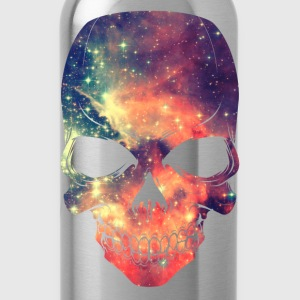 Universe - Space - Galaxy Skull T-Shirts - Water Bottle