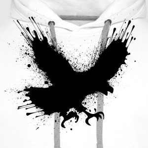 Abstract splashes of color - Street art bird Tee shirts - Sweat-shirt à capuche Premium pour hommes