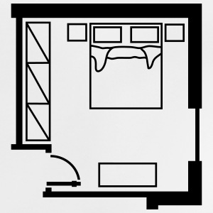 bedroom_ floor_ plan _p1 Shirts - Baby T-Shirt
