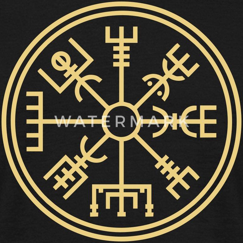 vegsvisir der wikinger kompass t shirt spreadshirt. Black Bedroom Furniture Sets. Home Design Ideas