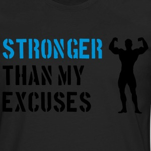 Stronger Than My Excuses T-Shirts - Men's Premium Longsleeve Shirt