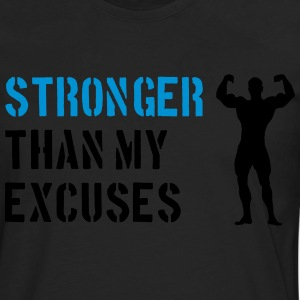 Stronger Than My Excuses Tee shirts - T-shirt manches longues Premium Homme