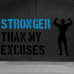 Stronger Than My Excuses Tee shirts - Casquette snapback