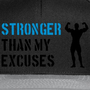 Stronger Than My Excuses Felpe - Snapback Cap