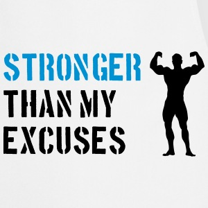 Stronger Than My Excuses Bluzy - Fartuch kuchenny