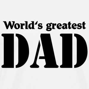World's greatest Dad Shirts met lange mouwen - Mannen Premium T-shirt
