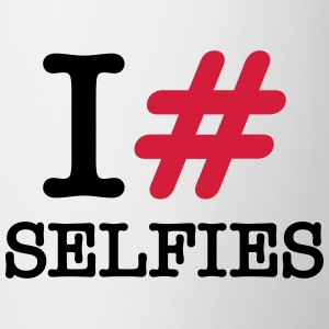I Love (Hashtag) Selfies T-Shirts - Tasse