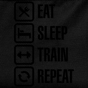 Eat sleep train repeat - bodybuilding Hoodies & Sweatshirts - Kids' Backpack