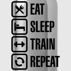 Eat sleep train repeat - bodybuilding T-Shirts - Water Bottle