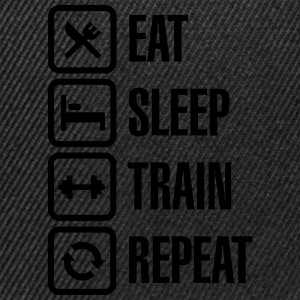 Eat sleep train repeat - bodybuilding Hoodies & Sweatshirts - Snapback Cap