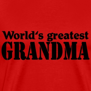 World's greatest Grandma Skjorter med lange armer - Premium T-skjorte for menn