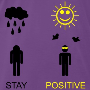 stay positive Tops - Premium-T-shirt herr