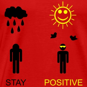 stay positive - Premium-T-shirt herr