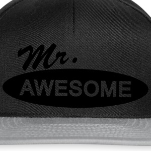mr. awesome T-Shirts - Snapback Cap