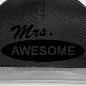 mrs. awesome T-Shirts - Snapback Cap