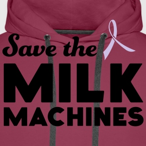 Save the Milk Machines T-Shirts - Men's Premium Hoodie