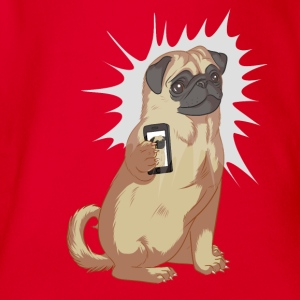 Pug Selfie Shirts - Organic Short-sleeved Baby Bodysuit