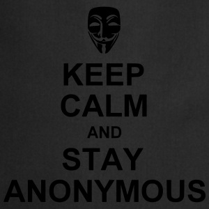 keep calm and stay anonymous T-shirts - Förkläde