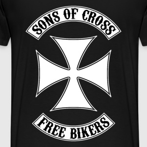 sons of cross free bikers Hoodies & Sweatshirts - Men's Premium T-Shirt