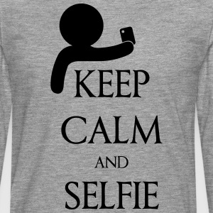 Keep calm and Selfie Camisetas - Camiseta de manga larga premium hombre