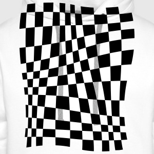 Distorted Grid T-Shirts - Men's Premium Hoodie
