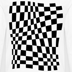 Distorted Grid T-Shirts - Men's Premium Longsleeve Shirt