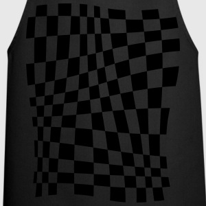 Distorted Grid T-Shirts - Cooking Apron