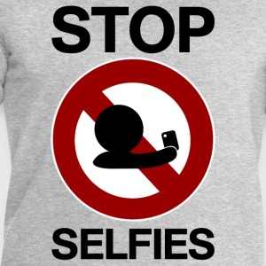 stop selfies prohibition sign T-Shirts - Men's Sweatshirt by Stanley & Stella