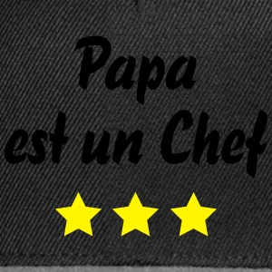 papa chef 3 etoiles Tabliers - Casquette snapback