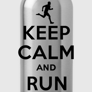 Keep calm and run Shirts - Water Bottle
