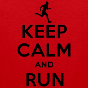 Keep calm and run T-Shirts - Men's Premium Tank Top
