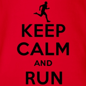 Keep calm and run T-Shirts - Baby Bio-Kurzarm-Body