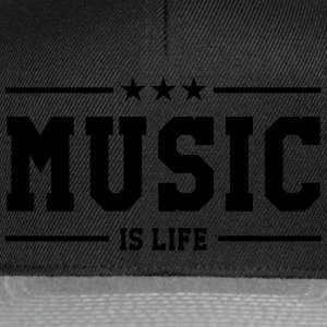 Music is life Tee shirts - Casquette snapback