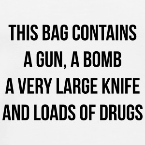 This bag contains a gun Sacs et sacs à dos - T-shirt Premium Homme