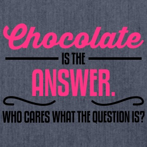 Chocolate is the answer. No matter the question is T-shirts - Skuldertaske af recycling-material