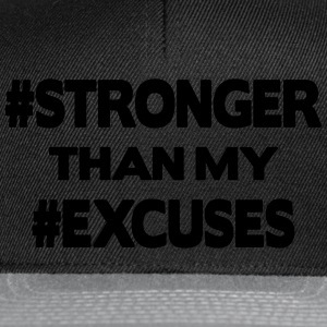 Stronger Than My Excuses Sudaderas - Gorra Snapback