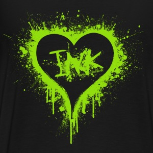 I Love Ink green Jackets & Vests - Men's Premium T-Shirt