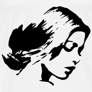 woman face Tops - Men's Premium T-Shirt