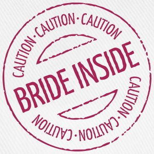 Caution - Bride Inside Stamp (Hen Party) Buttons - Baseball Cap