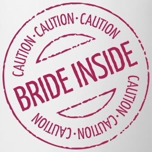 Caution - Bride Inside Stamp (Hen Party) Buttons - Mug