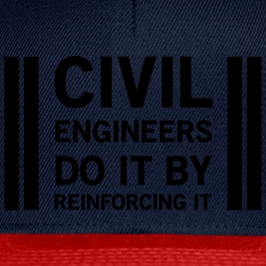 Civil Engineers Do It Be Reinforcing It T-Shirts - Snapback Cap