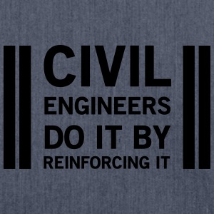 Civil Engineers Do It Be Reinforcing It T-Shirts - Shoulder Bag made from recycled material