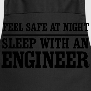 Feel Safe at Night Sleep With an Engineer T-Shirts - Cooking Apron