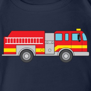 Fire Truck Shirts - Organic Short-sleeved Baby Bodysuit